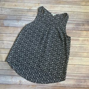 Anthropologie Black Pattern Tank Top